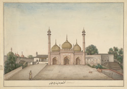The Golden Mosque of Bahadur 'Ali Khan, Delhi